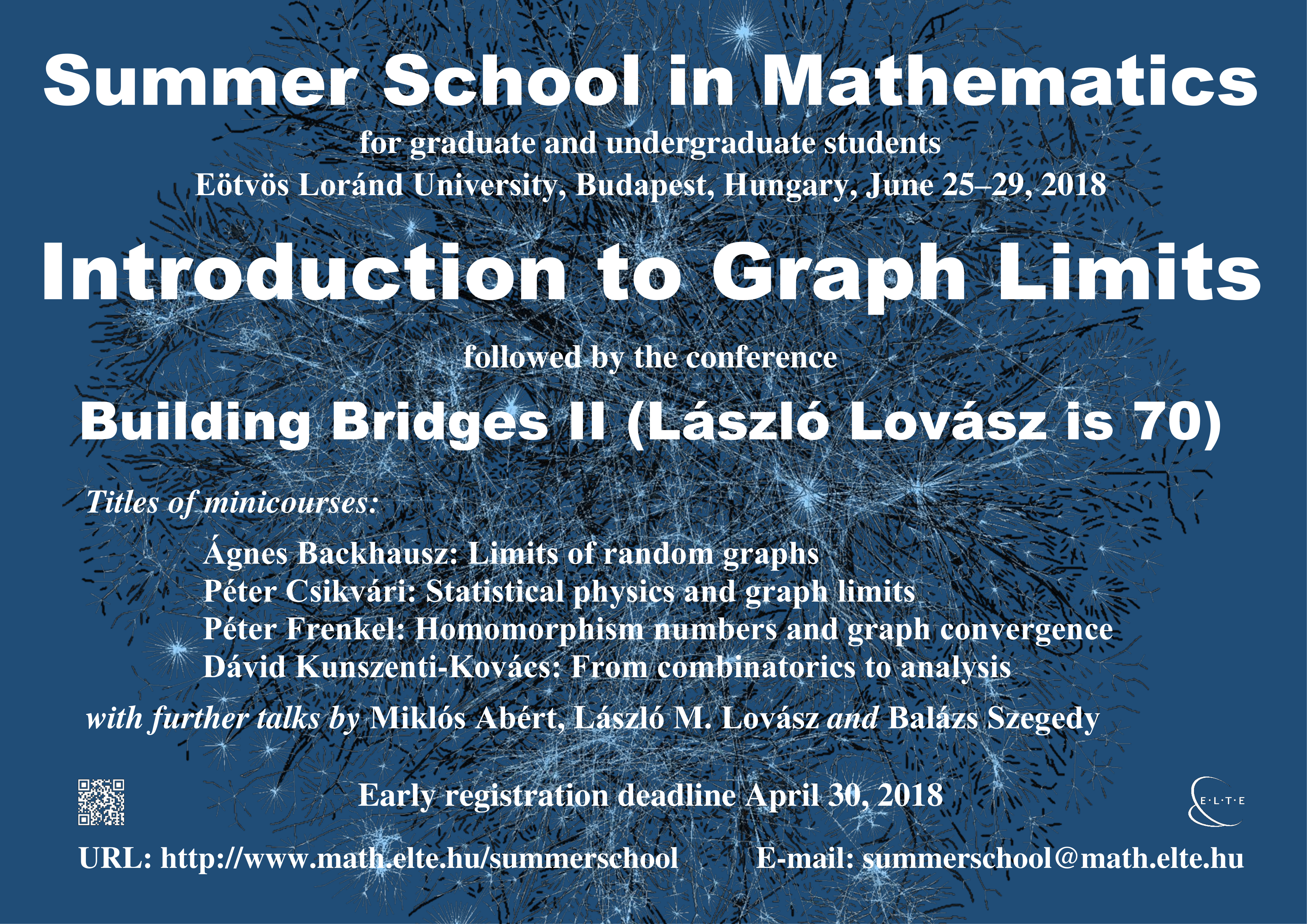 Summer School in Mathematics - Budapest, 2018